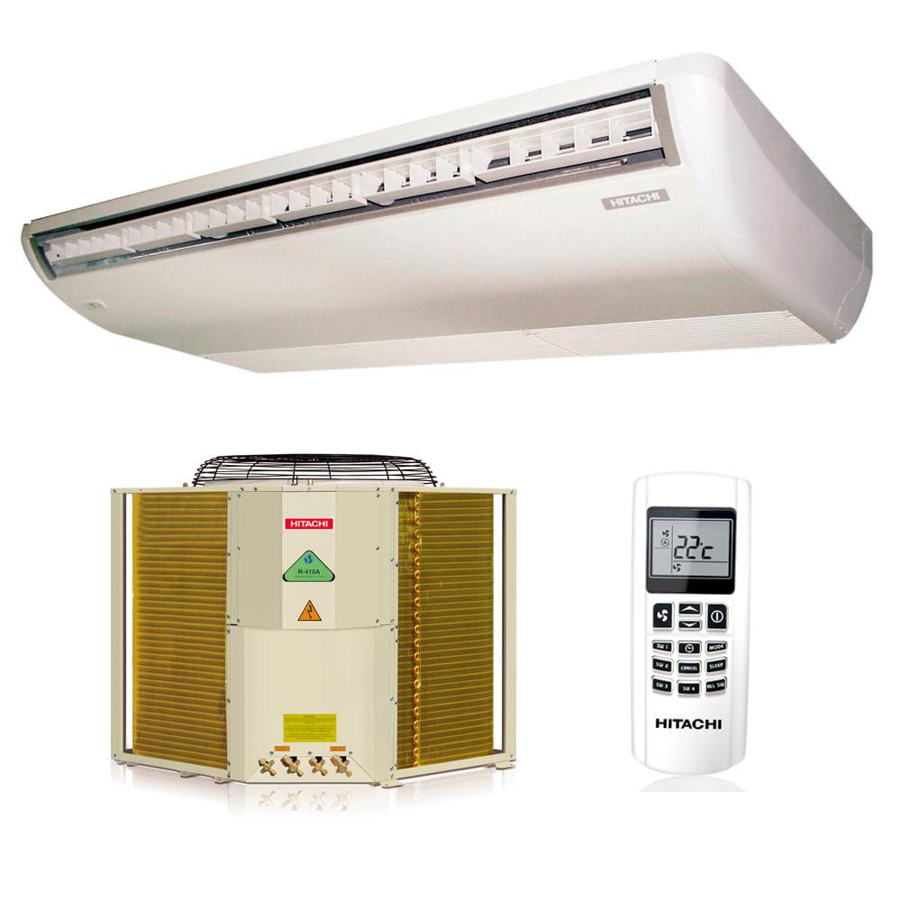 Ar-Condicionado-Split-Piso-Teto-Hitachi-60000-BTUS-Quente-Frio-380v-Trifasico-R410