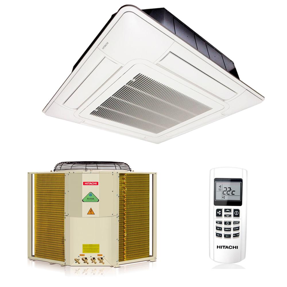 Ar-Condicionado-Split-Cassete-Hitachi-48000-BTUS-Frio-380v-Trifasico-R410