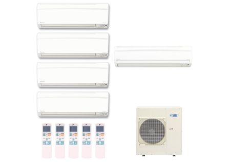 Ar-Condicionado-Multi-Split-Inverter-Hi-Wall-Daikin-4x9000-e-1x18000-BTUs-Quente-e-Frio-220v-Monofasico