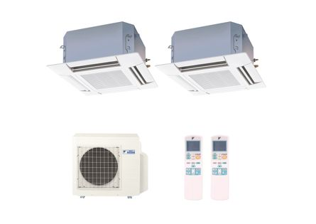 Ar-Condicionado-Multi-Split-Inverter-Cassete-Daikin-2x9000-BTUs-Quente-e-Frio-220v-Monofasico