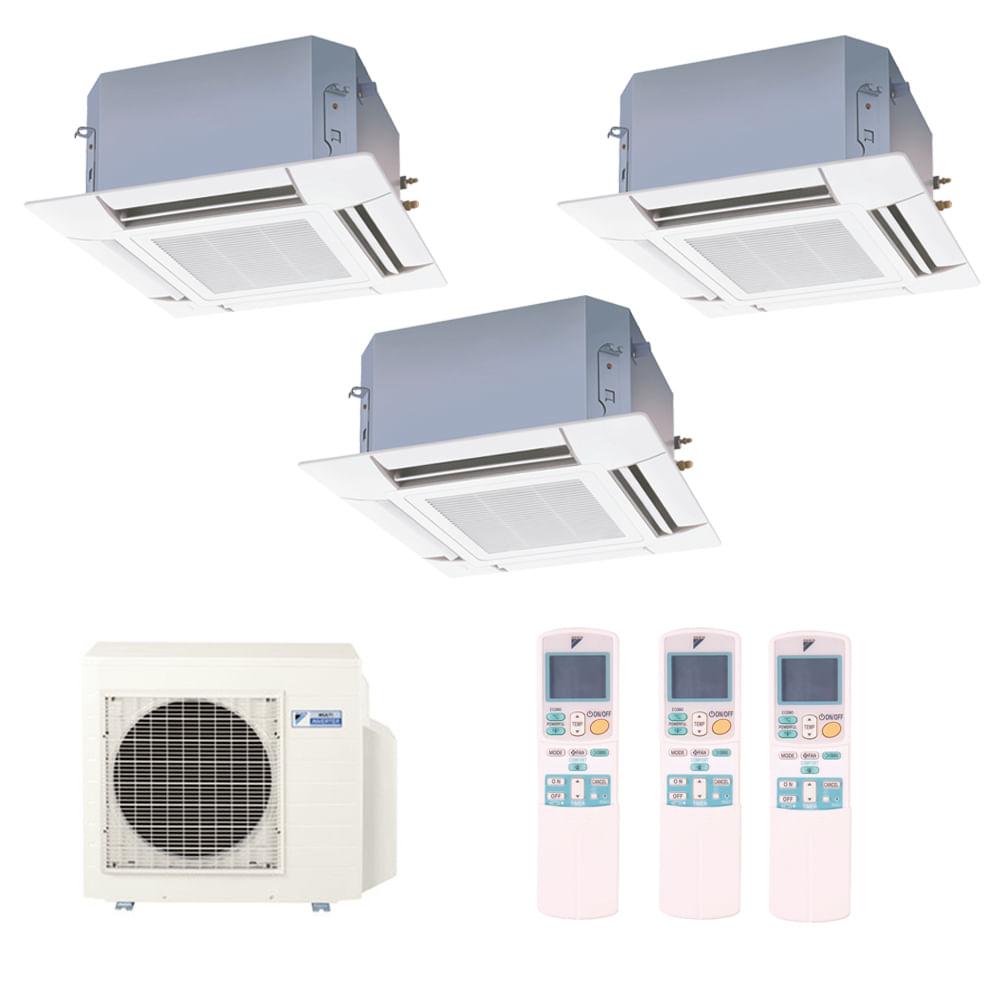 Ar-Condicionado-Multi-Split-Inverter-Cassete-Daikin-3x9000-BTUs-Quente-e-Frio-220v-Monofasico
