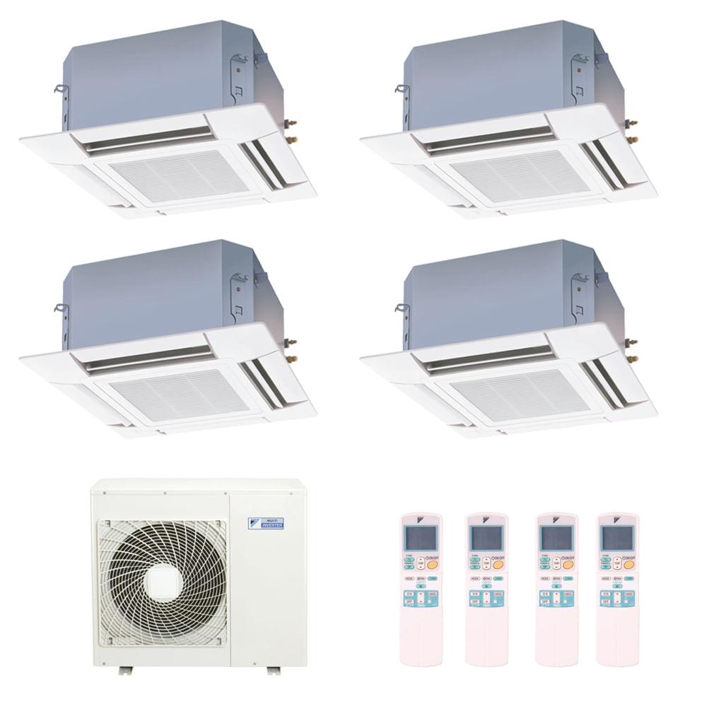 Ar-Condicionado-Multi-Split-Inverter-Cassete-Daikin-4x9000-BTUs-Quente-e-Frio-220v-Monofasico