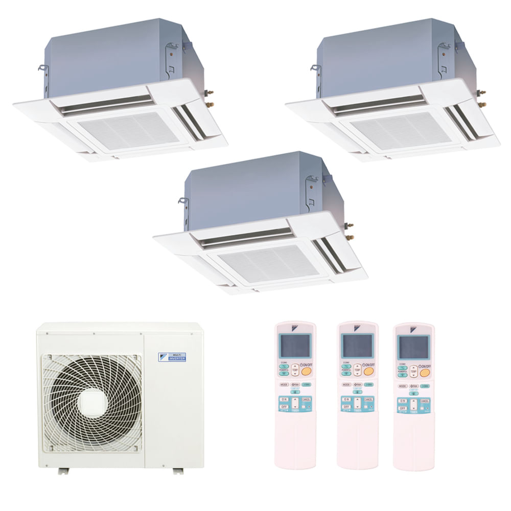 Ar-Condicionado-Multi-Split-Inverter-Cassete-Daikin-2x12000-e-1x18000-BTUs-Quente-e-Frio-220v-Monofasico