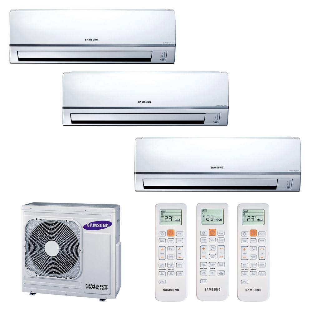 Ar condicionado multi split inverter hi wall samsung for Splity 3 en 1