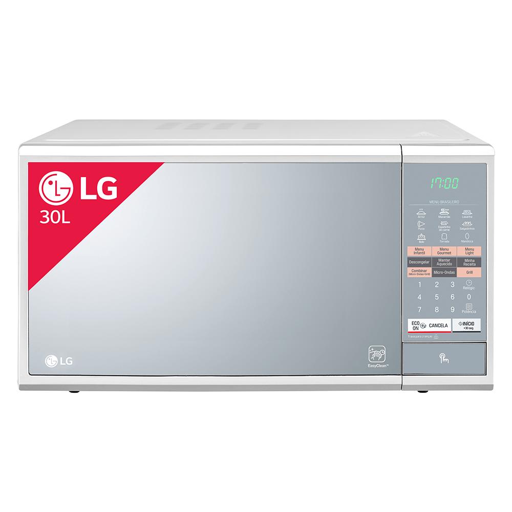 Microondas-LG-Easy-Clean-30-Litros-Branco-e-Espelhado-MH7044L
