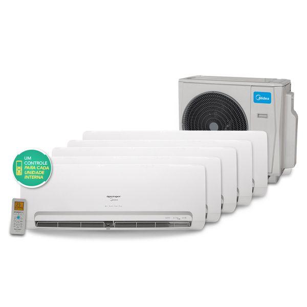 Ar-Condicionado-Multi-Split-Inverter-Springer-Midea-3x9.000--1x12.000-e-1x18.000-BTU-h-Quente-e-Frio-Conjunto