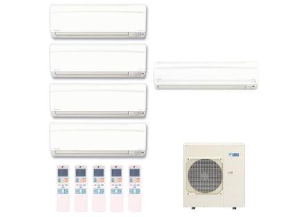 Ar Condicionado Multi Split Inverter Hi Wall Daikin 4x9000 e 1x18000 BTUs Quente e Frio 220v Monofásico