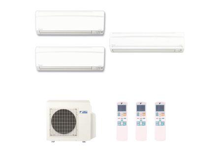 Ar Condicionado Multi Split Inverter Hi Wall Daikin 2X12.000 e 1X18.000 BTUS Quente e Frio 220v Monofásico