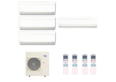 Ar Condicionado Multi Split Inverter Hi Wall Daikin 3x12000 e 1x18000 BTUs Quente e Frio 220v Monofásico