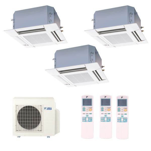 Ar-Condicionado-Multi-Split-Inverter-Cassete-Daikin-2x9000-e-1x12000-BTUs-Quente-e-Frio-220v-Monofasico
