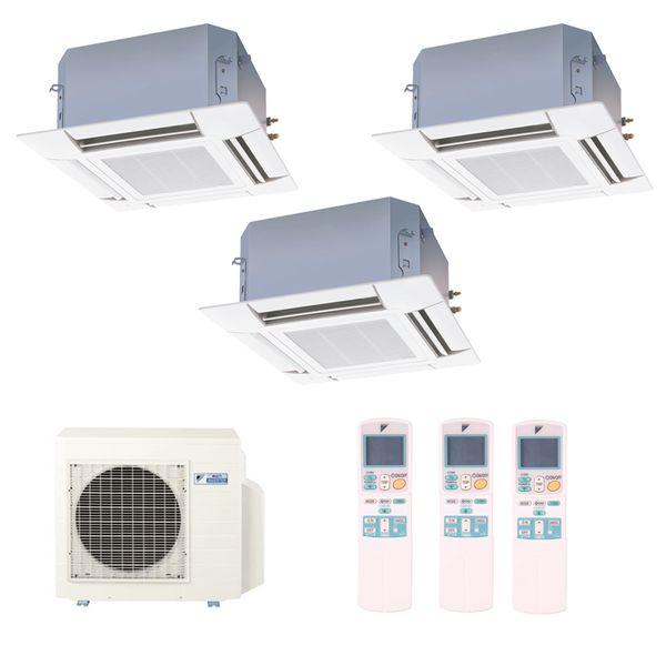 Ar-Condicionado-Multi-Split-Inverter-Cassete-Daikin-2x9000-e-1x18000-BTUs-Quente-e-Frio-220v-Monofasico