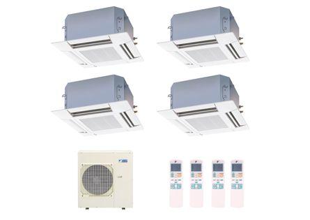 Ar Condicionado Multi Split Inverter Cassete Daikin 4X9.000 e 1X18.000 BTUS Quente e Frio 220v Monofásico