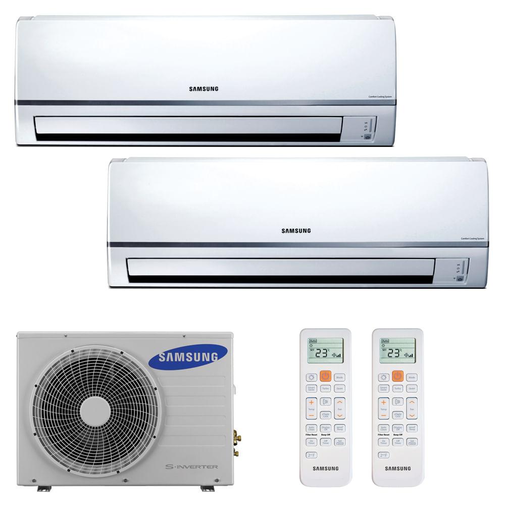 12a15feb5 Ar Condicionado Multi Split Inverter Hi Wall Samsung 2x9000 BTUs ...