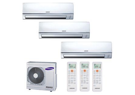 Ar Condicionado Multi Split Inverter Hi Wall Samsung 2x9000 e 1x12000 BTUs Quente e Frio 220v Monofásico