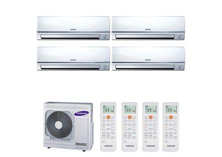 Ar Condicionado Multi Split Inverter Hi Wall Samsung 2x9000 e 2x12000 BTUs Quente e Frio 220v Monofásico