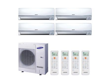 Ar Condicionado Multi Split Inverter Hi Wall Samsung 4x12000 BTUs Quente e Frio 220v Monofásico