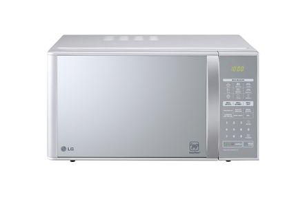 Micro-ondas LG Easy Clean Grill 30 litros Prata Espelhado MH7053R - 220 Volts