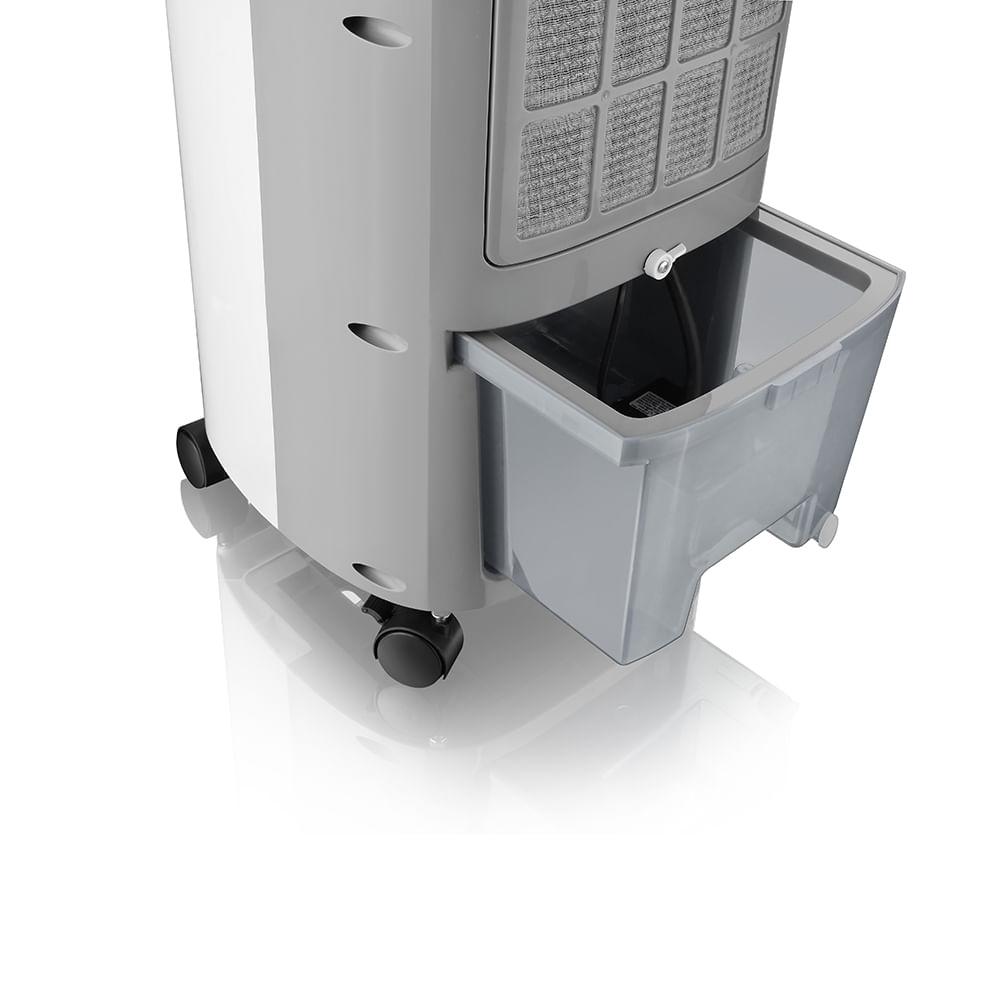 Climatizador de ar portátil com compartimento.