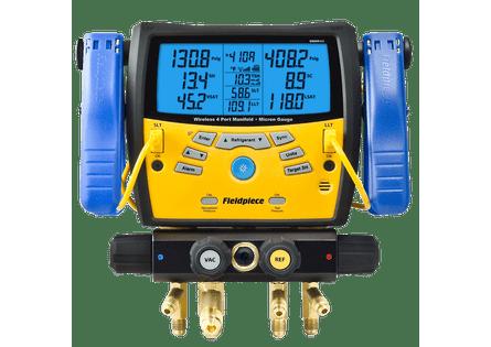 Manifold-Digital-Wireless-Fieldpiece-com-4-Portas-e-Vacuometro-SMAN460