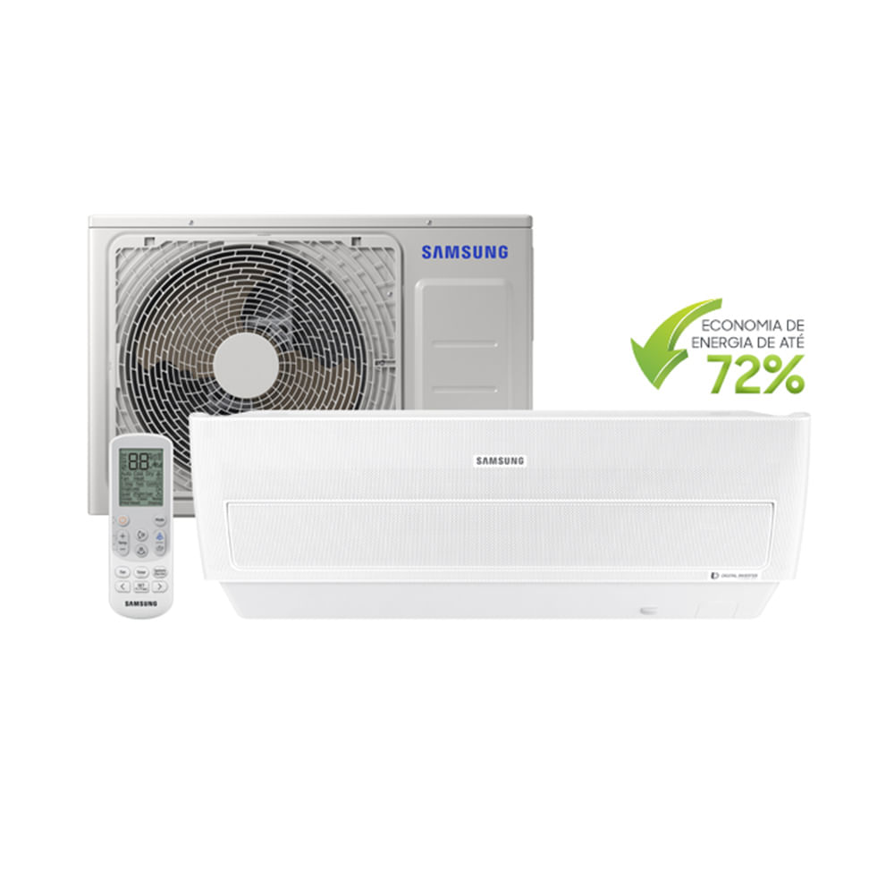 90c61ab4c Ar Condicionado Split Samsung Digital Inverter Wind Free 12.000 BTU ...