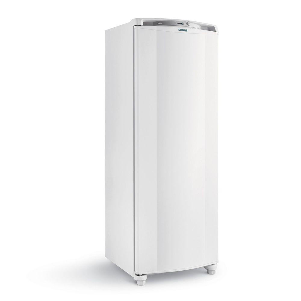 Freezer Vertical branco da marca Consul.