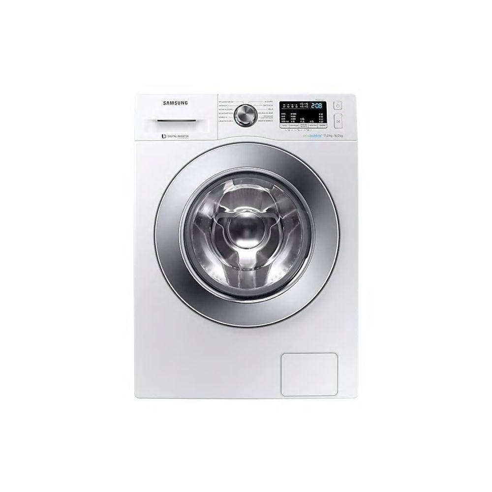 Máquina de Lavar e secar branca da Samsung.