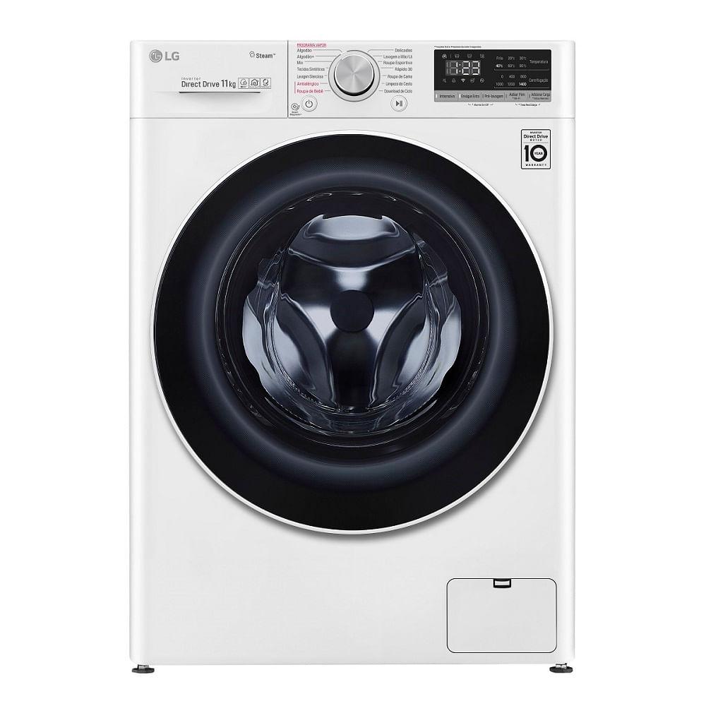 Máquina de lavar da marca Lg Branca.