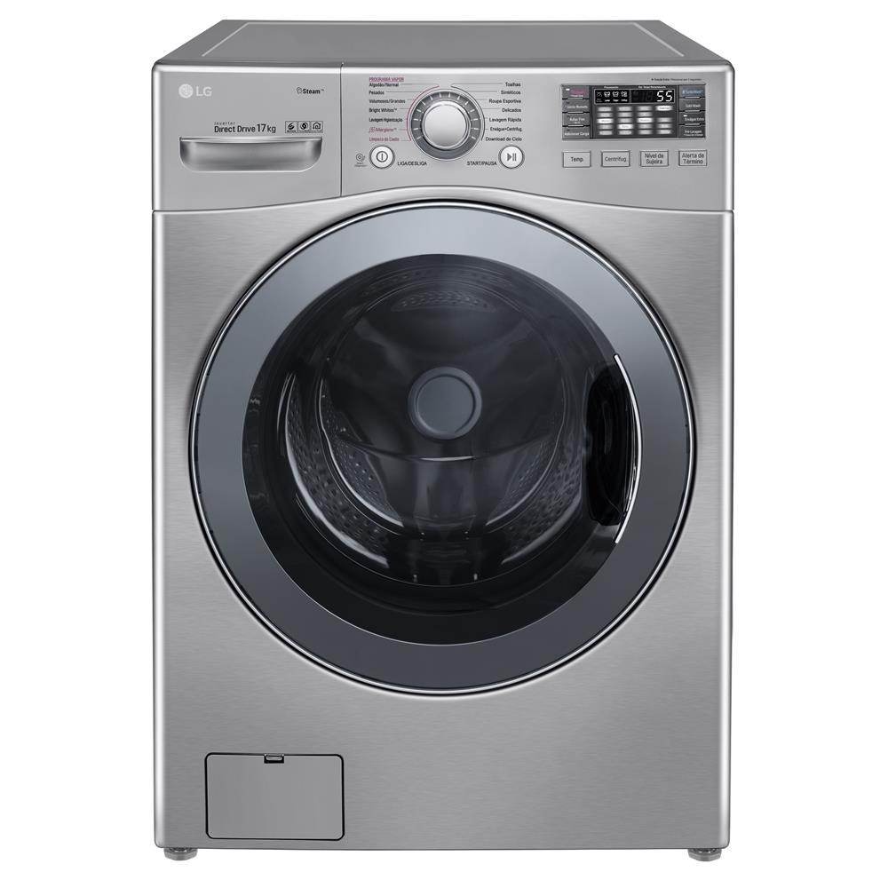 Máquina de Lavar em inox da marca Lg.