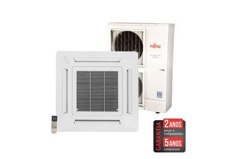 Ar-Condicionado-Split-Cassete-Inverter-Fujitsu-42.000-BTU-h-Quente-e-Frio-AUBG45LRL-Trifasico---380-volts