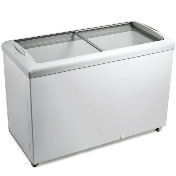 Freezer-Para-Sorvete-Horizontal-Metalfrio-2-Tampas-de-Vidro-563L-HF55L-–-127-volts