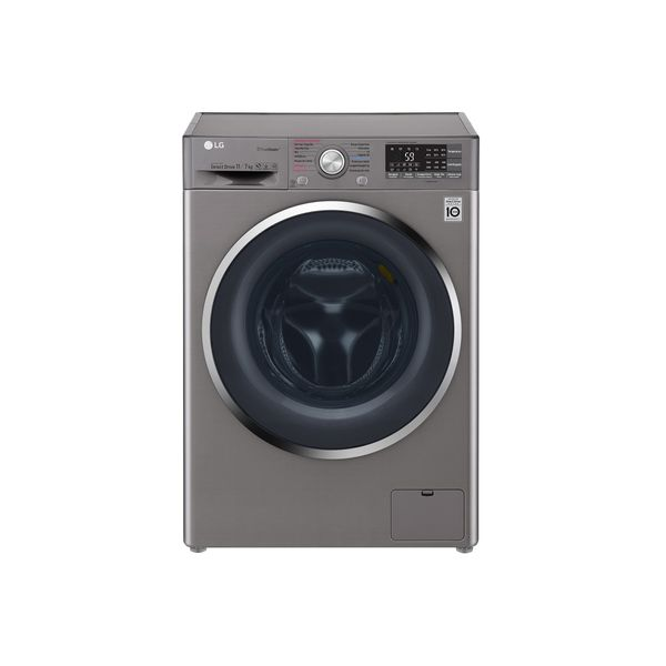 Lava-e-Seca-LG-TWIMWash-com-True-Steam-11kg-Aco-Escovado-WD11SB6DA-–-220-Volts
