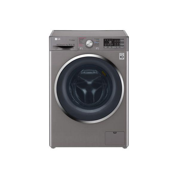 Lava-e-Seca-LG-TWIMWash-com-True-Steam-11kg-Aco-Escovado-WD11SB6D-–-127-Volts