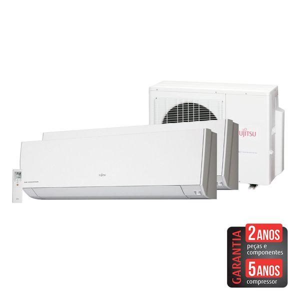 Ar-Condicionado-Multi-Split-Inverter-Fujitsu-23.000-BTU-h--2x12.000-BTU-h--Quente-e-Frio---220-Volts