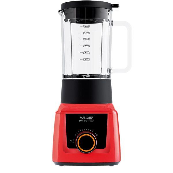 Liquidificador-Mallory-Taurus-Glass-Vermelho-–-220-Volts