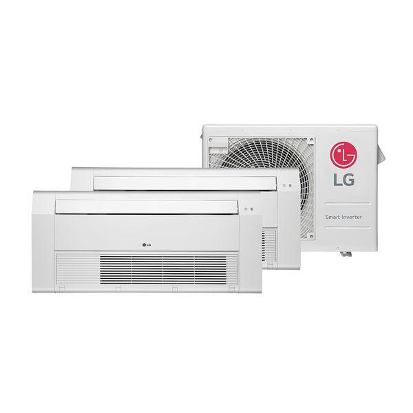 Ar-Condicionado-Multi-Split-Cassete-1-Via-Inverter-LG-1x9.000-e-1x12.000-Btu-h-Quente-e-Frio-–-220-Volts