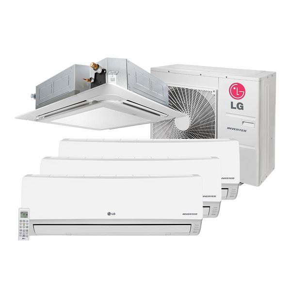 Ar-Condicionado-Multi-Split-Inverter-LG-3x12.000-e-Cassete-1x18.000-BTU-h-Quente-e-Frio---220-Volts