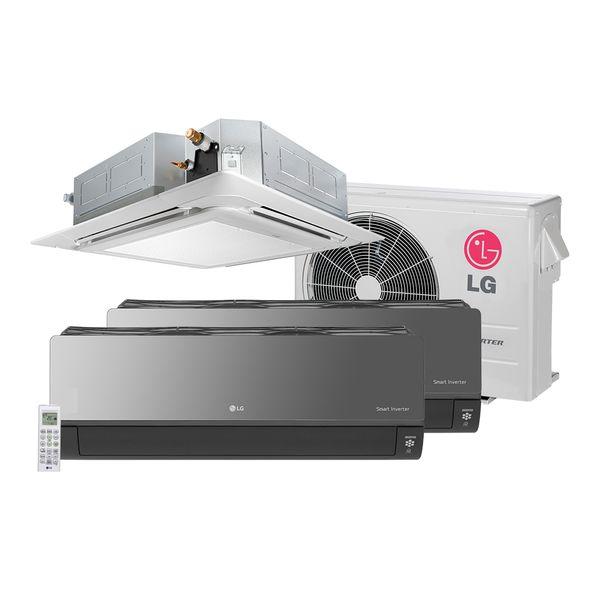 Ar-Condicionado-Multi-Split-Inverter-LG-Artcool-2X7.000-e-Cassete-1X12.000-BTU-h-Quente-e-Frio---220-Volts