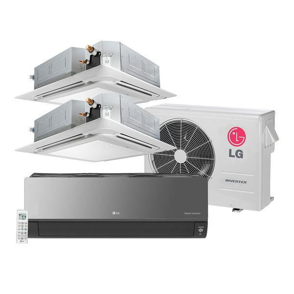 Ar-Condicionado-Multi-Split-Inverter-LG-Artcool-1x7.000-e-Cassete-2x9.000-BTU-h-Quente-e-Frio---220-Volts