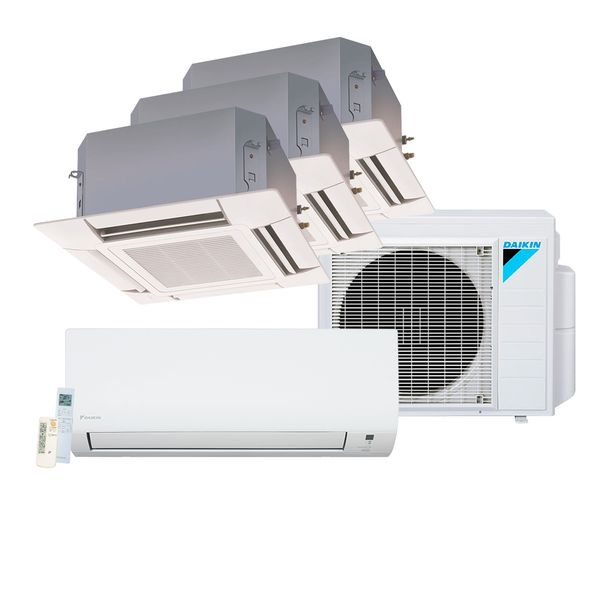 Ar-Condicionado-Multi-Split-Inverter-Daikin-Advance-1x12.000-e-Cassete-4-Vias-3x17.000-BTU-h-Quente-e-Frio-–-220-Volts