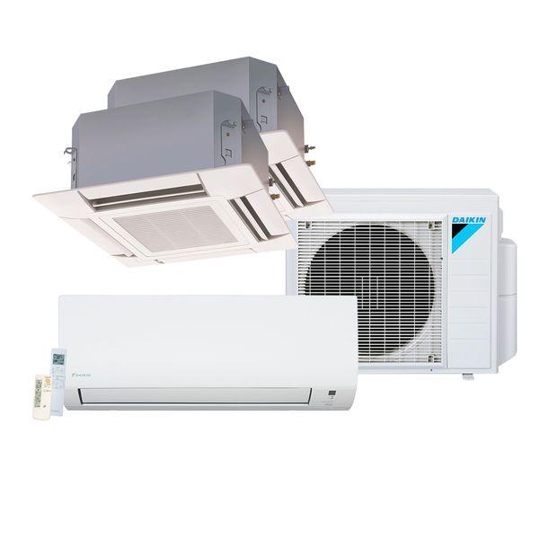 Ar-Condicionado-Multi-Split-Inverter-Daikin-Advance-1x9.000-e-Cassete-4-Vias-1x12.000-e-1x18.000-BTU-h-Quente-e-Frio-Monofasico-S3MXS2409P-–-220-Volts