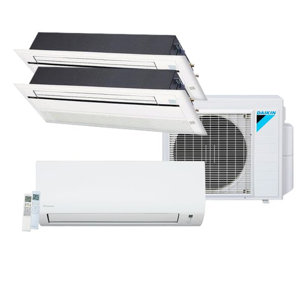 Ar-Condicionado-Multi-Split-Inverter-Daikin-Advance-1x12.000-e-Cassete-1-Via-1x9.000-e-1x12.000-BTU-h-Quente-e-Frio-Monofasico-S3MXS2412P-–-220-Volts