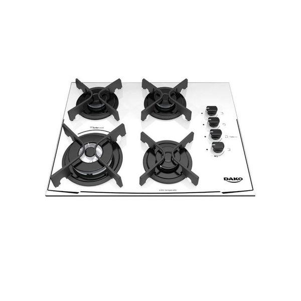 Cooktop-Dako-4-Bocas-Glass-Turbo-Cook-com-Mesa-de-Vidro-e-Tripla-Chama-Branco-–-Bivolt