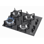 Cooktop a gás, marca Fisher, 4 bocas
