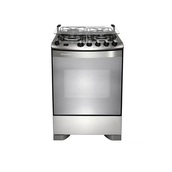 Fogao-de-Piso-Brastemp-4-Bocas-com-Dupla-Chama-e-Grill-Inox-BFS4GAR-–-127-Volts