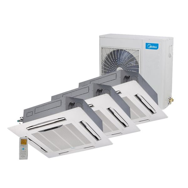 Ar-Condicionado-Multi-Split-Inverter-Springer-Midea-Cassete-4-Vias-3x9.000-BTU-h-Quente-e-Frio-Monofasico-38MBTA27M5-–-220-Volts
