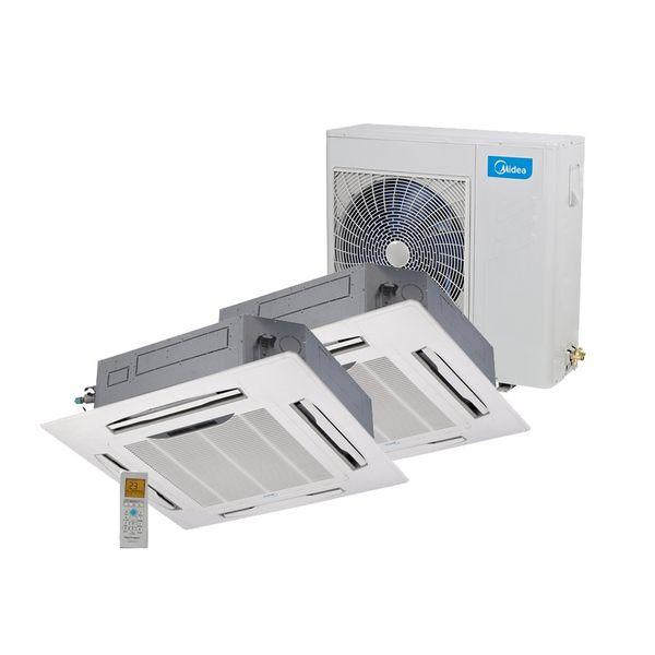 Ar-Condicionado-Multi-Split-Inverter-Springer-Midea-Cassete-4-Vias-2x12.000-BTU-h-Quente-e-Frio-Monofasico-38MBBA18M5-–-220-Volts