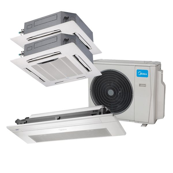 Ar-Condicionado-Multi-Split-Inverter-Springer-Midea-Cassete-1-Via-1x12.000-e-4-Vias-2x12.000-BTU-h-Quente-e-Frio-Monofasico-38MBTA27M5-–-220-Volts