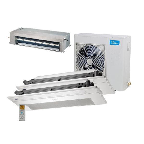 Ar-Condicionado-Multi-Split-Inverter-Springer-Midea-Duto-12.000-e-Cassete-1-Via-9.000-e-12.000-BTU-h-Quente-e-Frio-Monofasico-38MBTA27M5-–-220-Volts