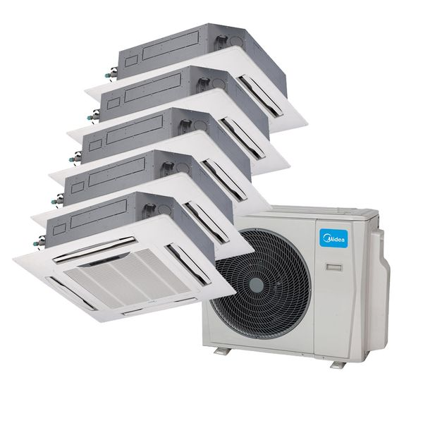 Ar-Condicionado-Multi-Split-Inverter-Springer-Midea-Cassete-4-Vias-2x9.000-e-3x12.000-BTU-h-Quente-e-Frio-Monofasico-38MBPA42M5-–-220-Volts