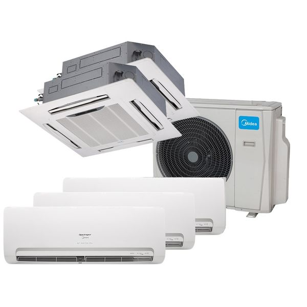 Ar-Condicionado-Multi-Split-Inverter-Springer-Midea-3x9.000-e-Cassete-4-Vias-2x9.000-BTU-h-Quente-e-Frio-Monofasico-38MBPA42M5-–-220-Volts